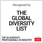 Recognized by the Global Diversity List, Top 50 Professionals